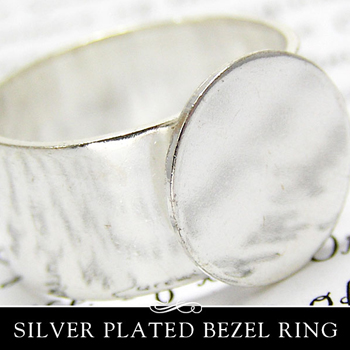 Silver Plated Adjustible Rings with Glue Pad