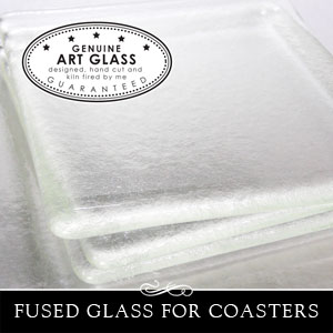 Large glass for coasters
