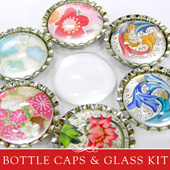 How to make a glass and bottle cap magnet