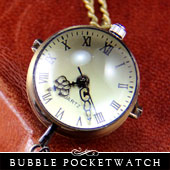 Glass Bubble Pocket Watch