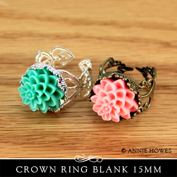 How to make a resin flower decorated ring