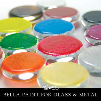 Bella Paint in a rainbow of colors.